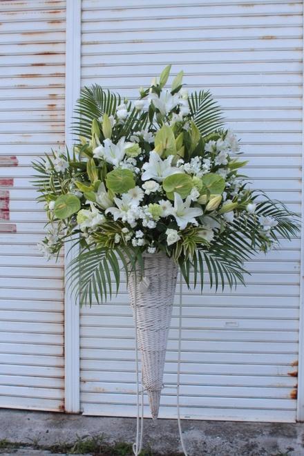 白系スタンド花